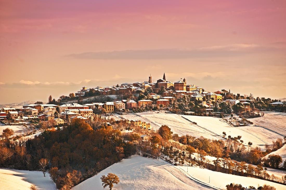 Panorama Mondavio Inverno