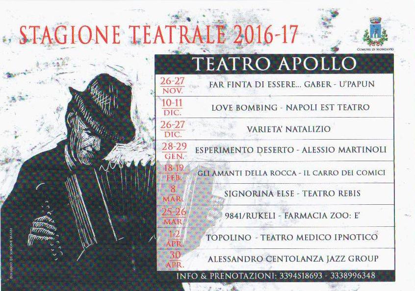Stagione Teatro 2016 2017