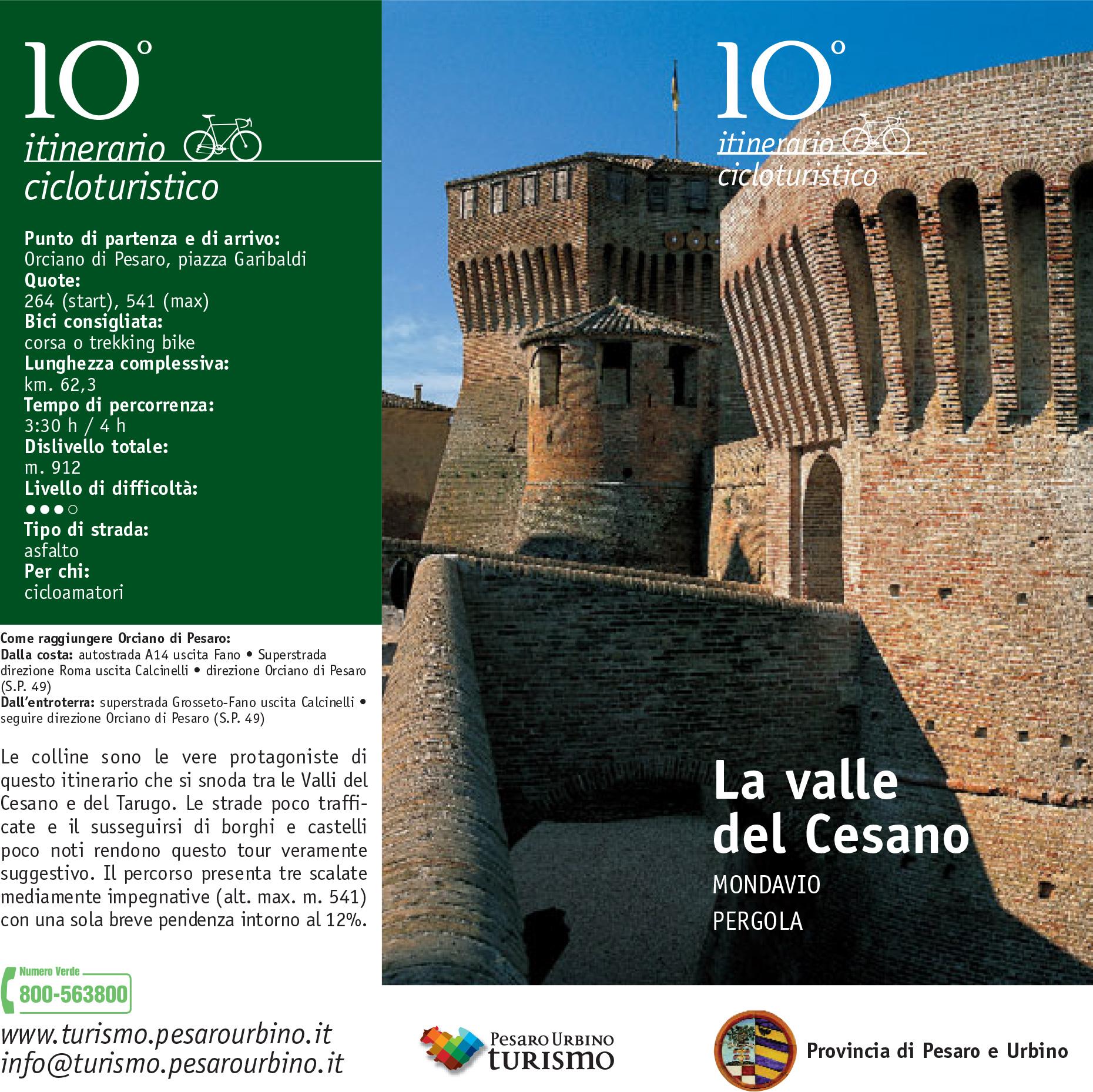La Valle Del Cesano – Itinerario Cicloturistico