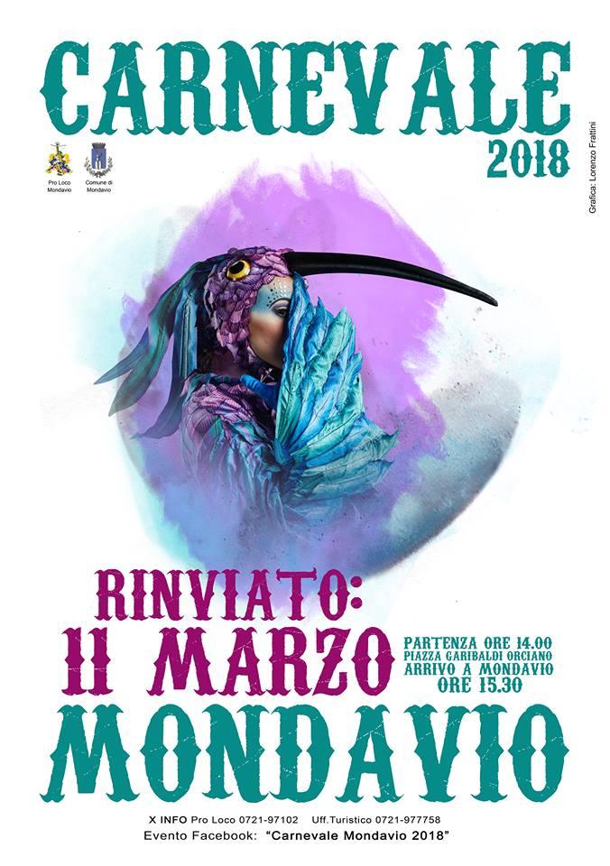 Carnevale 2018 Rinviato Al Prossimo 11 Marzo 🗓